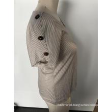Pinstripe women's short sleeves