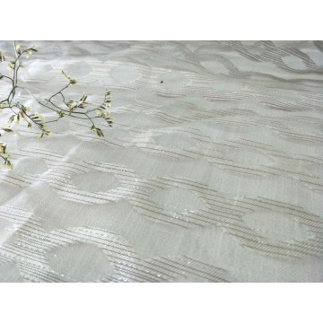 2018 100% Polyester New Design Cutting Sheer Table Cloth