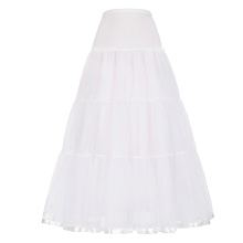 Grace Karin Women's White Long Crinoline Underskirt Retro Vintage Dress Petticoat CL010421-2