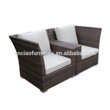 Cadeiras de sofá de móveis de vime ao ar livre moderno