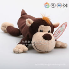 Animal shape plush fabric pen case, plush monkey pen case, unstuffed cow pencil case