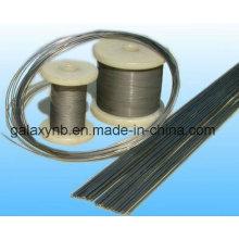 Vente chaude ASTM B863 Gr7 en alliage de titane fil droit