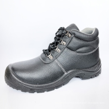 Cheap High Quality Top Brand Name Industrial Black Embossed Leather Steel Toe Safety Shoes
