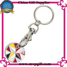 Porte-clés personnalisé avec pièce de monnaie