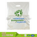 Custom Logo Printing Punch Out Handle Shopping Corn Starch Biodegradable Plastic Ldpe Hdpe Bags Manufacturers