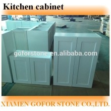 White solid wood shaker style kitchen cabiet