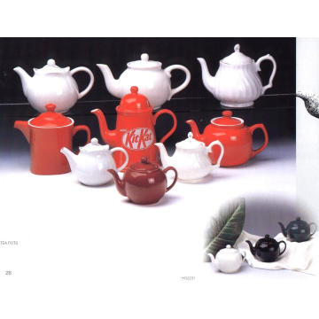Pote de chá de cerâmica