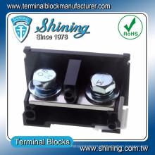 Conector de terminal de metal 150 V de multi-pólo de trilho DIN TE-150