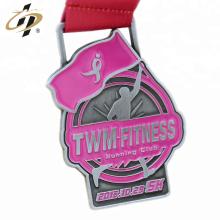 Medalla maratón personalizada con cinta