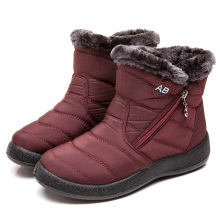 Winter 2021 wholesale new product keep warm waterproof women Low top plush boots for ladies casual shoes