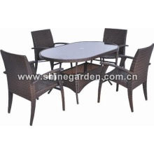 Outdoor/Garden Furniture 5 Piece Patio Wicker Dining Set