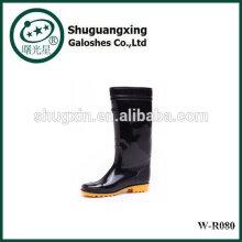 Hoch Regenstiefel für Mann Mann Regen BootsPVC TRANSPARENT Flachboden Mannes Regen Schuhe Mode W-R080