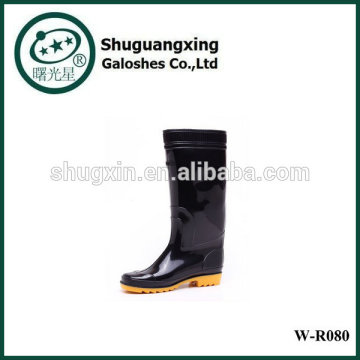 Tall Rain Boots for Man Man's Rain BootsPVC TRANSPARENT Flat Bottom Man's Rain Shoes Fashion W-R080