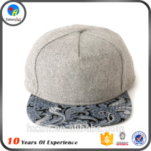 high quality custom blank snap back hat cap