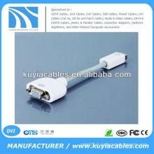 VGA para Mini DVI Adaptador Cabo de vídeo fêmea para fêmea para MacBook