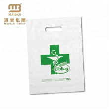 Wholesale Custom PE Compostable Cornstarch 100% Biodegradable Bioplastic Shopping Packaging Bag