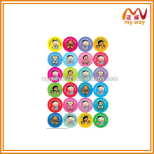 cute little head stickers of new promotional gift items for children