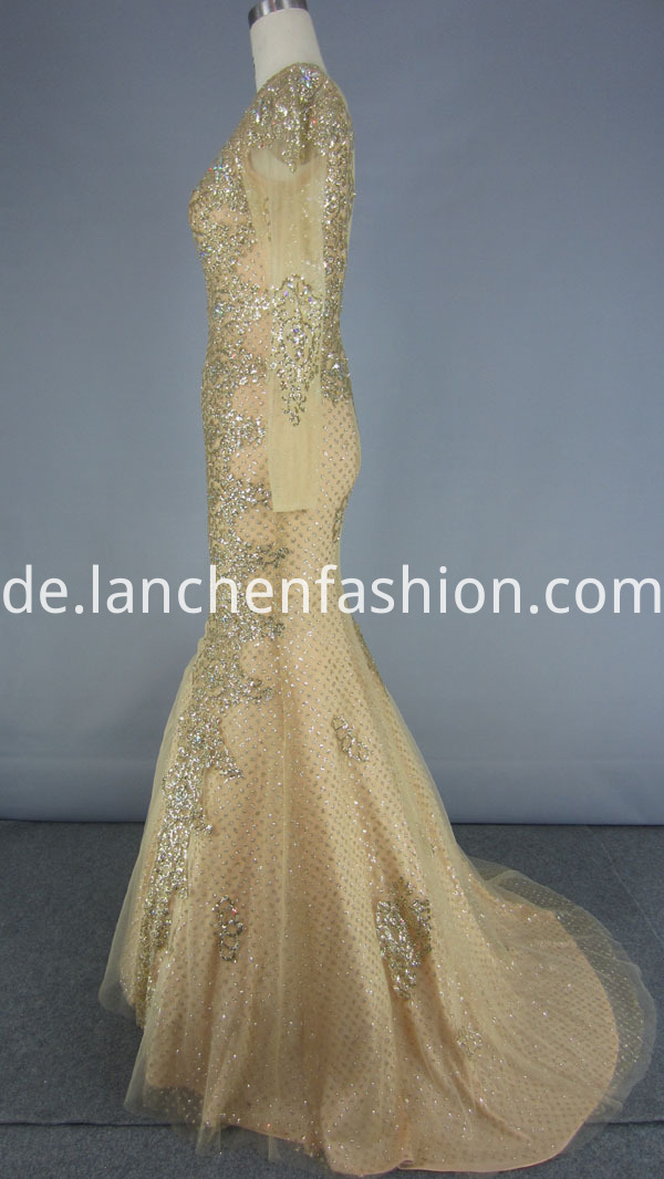 Beaded Embroidery Prom Dress
