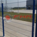 Galvanized 3D Polyester Curvy Welded Fence Panel