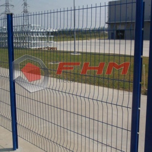 Galvanized 3D Polyester Curvy Welded Pagar Panel