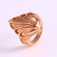 12225 atacado simples projeto senhoras jóias em forma de folha banhado a ouro anel de dedo