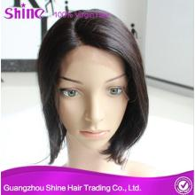 Virgin Indian Human Hair Bob Lace Front Wig