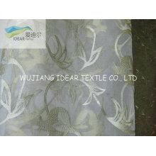 Beflockte Polyester Organza Stoff für Dekorationsstoff