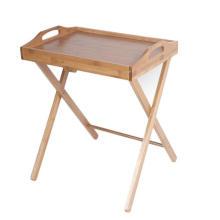 Mesa de bandejas de té barata plegable de bambú
