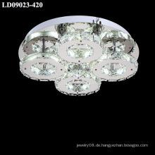 führte Kronleuchter Lampen mit Silber Kristalllicht