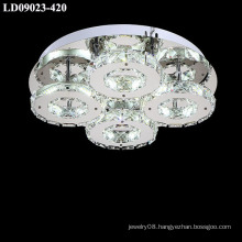 led chandelier lamps with silver crystal light
