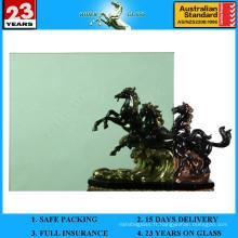 Verre flotté teinté vert foncé de 3 à 12 mm