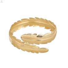 Statement Leaf Feather Jewelry Upper Arm Bracelet