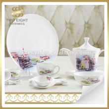 Fine quality table set italian style porcelain royal dinner set