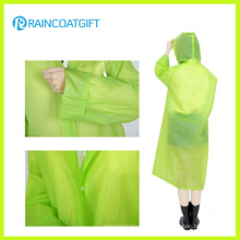 Fashion Clear PVC Women′s Poncho Rainwear Rvc-157