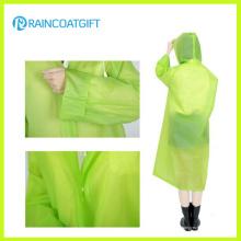 Moda Limpar PVC Mulheres Poncho Rainwear Rvc-157