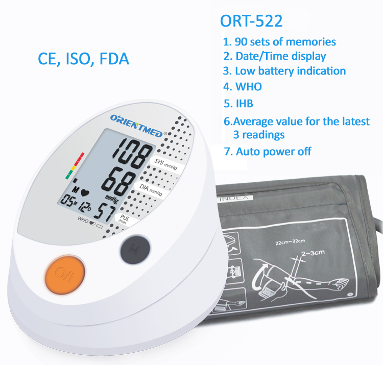 ORIENTMED-522-Details-of-blood-pressure-monitor