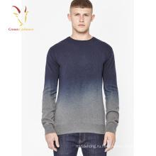 2017 новая мода мужские Кашемировые свитера с градиентом цвета