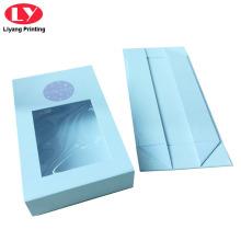 Белая магнитная картонная крышка окна подарочной коробки