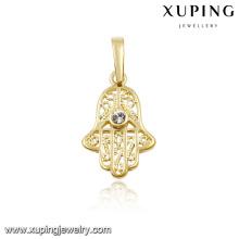 32003 xuping 14k gold fashion gold jewellery hand pendant