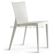 Fuerte restaurante al aire libre silla de plástico blanco (sp-uc129)