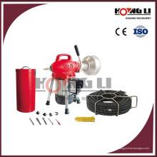 D75 máquina de limpeza de tubos de drenagem elétrica / limpador de esgoto para uso doméstico, 250 W