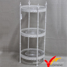 Vintage 3 Tier Metel Almacenamiento Stand para Cupcake y Cake