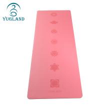 Yugland private label anti slip natural rubber pu yoga mat wholesale