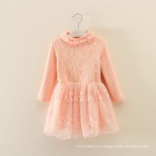 conjunto de ropa custume niños otoño fábrica de ropa OEM invierno niños ropa naranja vestidos de lana abrigos