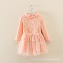 ensemble de vêtements custume enfants automne vêtements usine OEM hiver enfants orange vêtements robes en laine manteaux
