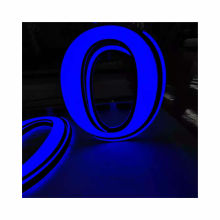 letters 3d acrylic Indoor and outdoor frontlit and backlit led glowing lighted sign
