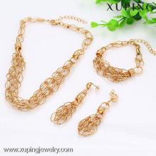 Joyería de cobre de la moda C203125-63394-Xuping de la mujer de la joyería fijada con el oro 18K plateado