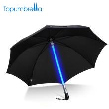OEM Atacado Vara Ultra Lidar Com Preto LED Piscando Luz Guarda-chuva