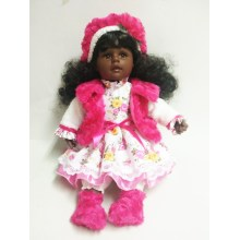 24 Inches Curly Hair Vinyl Doll