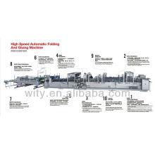 Hochgeschwindigkeitsautomatische Kartonbox Folder Gluer (1050size)